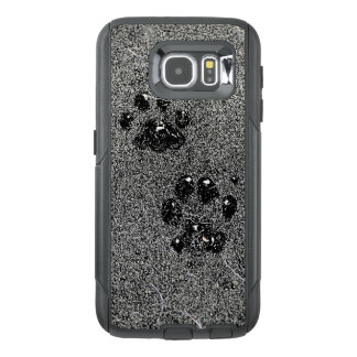 Dusty Grungy Cat Paw Pad Prints OtterBox Samsung Galaxy S6 Case