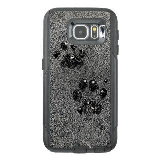 Dusty Grungy Cat Paw Pad Prints Otterbox Samsung Galaxy S6 Case
