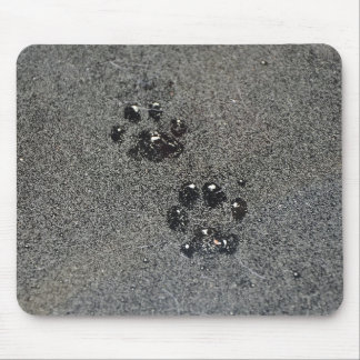 Dusty Grungy Cat Paw Prints Mouse Pad