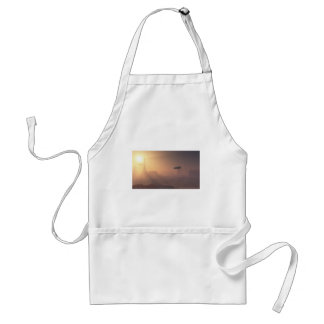 Dusty Landing on Mars Colonial Outpost Adult Apron