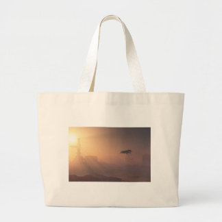 Dusty Landing on Mars Colonial Outpost Jumbo Tote Bag