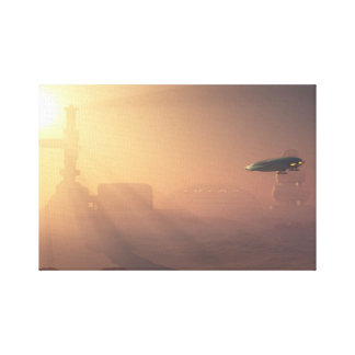Dusty Landing on Mars Colonial Outpost Canvas Print