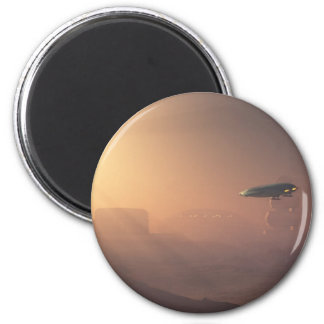 Dusty Landing on Mars Colonial Outpost 2 Inch Round Magnet