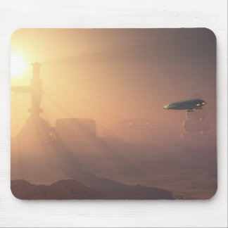 Dusty Landing on Mars Colonial Outpost Mouse Pad