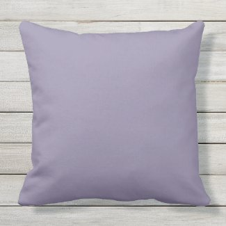 Dusty Lavender Solid Outdoor Throw Pillow 20x20