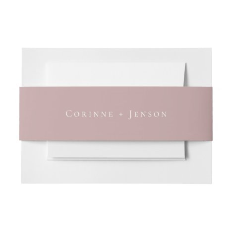 Dusty Mauve Wedding Invitation Belly Band