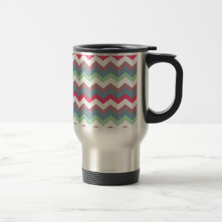 Dusty Miller Plum Chevron Travel Mug