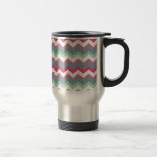 Dusty Miller Plum Chevron Travel Mug