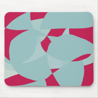 Dusty Pale Blue Vibrant Magenta Abstract Graphic Mouse Pad