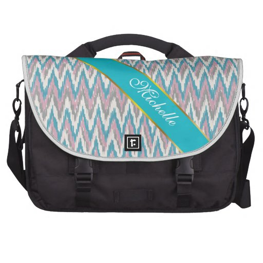 Dusty Pink and Blue  iKat Laptop Commuter Bag