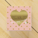 Dusty Pink And Gold Polka Dot Party Favor Boxes