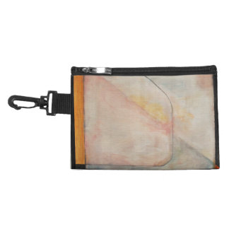 Dusty pink canvas clip on pouch accessories bag
