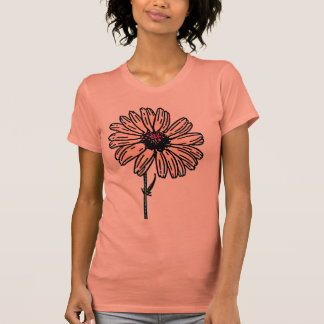 Dusty Pink Daisy Vintage flower T Shirts