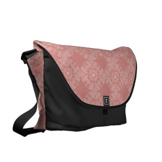 Dusty Pink Floral Pattern Messenger Bag
