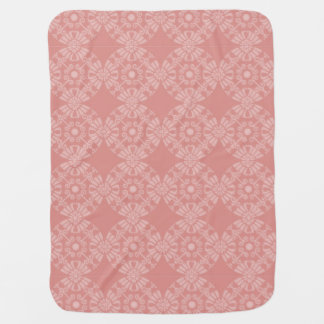 Dusty Pink Floral Pattern Receiving Blanket