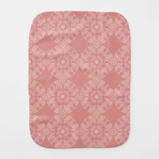 Dusty Pink Floral Pattern Baby Burp Cloths