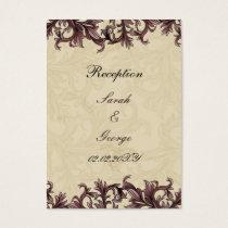dusty pink ivory Vintage Flourish Wedding Business Card