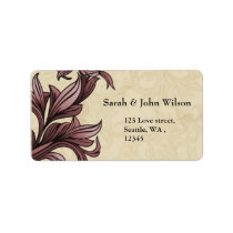 dusty pink ivory Vintage Flourish Wedding Label