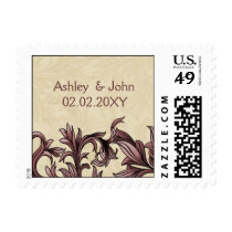 dusty pink ivory Vintage Flourish Wedding Postage