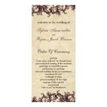dusty pink ivory Vintage Flourish Wedding Rack Card