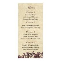 dusty pink ivory Vintage Flourish Wedding Rack Card