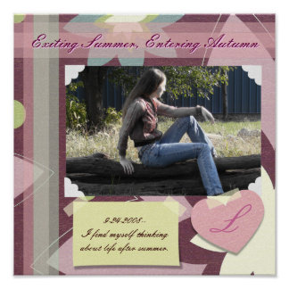 Dusty Pinks Scrapbook Page Poster