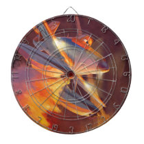 Dusty - Piston Peak Fire Dept Dartboard With Darts