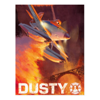 Dusty - Piston Peak Fire Dept Postcard