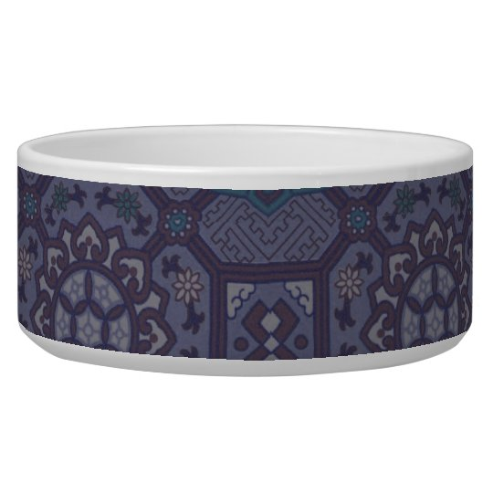 Dusty Purple Country Floral Pattern Bowl