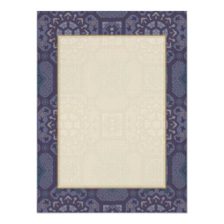 Dusty Purple Country Floral Pattern Card