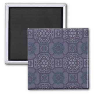 Dusty Purple Country Floral Pattern Magnet