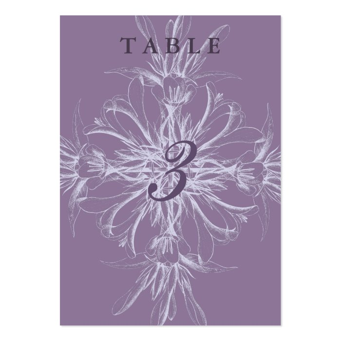 Dusty Purple Floral Guest Table Cards