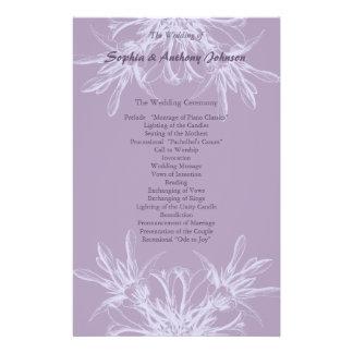 Dusty Purple Floral Wedding Program