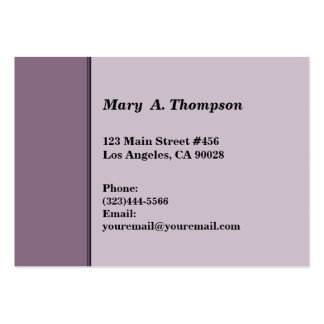 Dusty Purple side border Business Card Templates