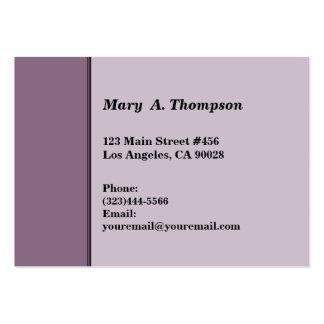 Dusty Purple side border Business Card Templates