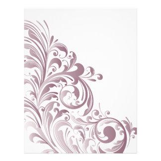 """Dusty Purple Swirl 8.5"""" X 11"""" Paper"""