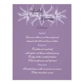 Dusty Purple Wedding Menu