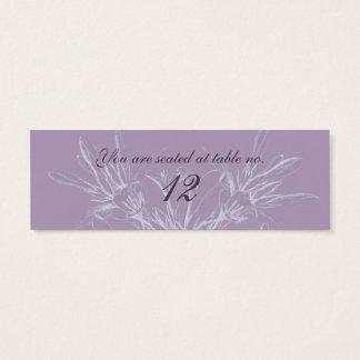 Dusty Purple Wedding Table Cards