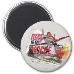 Dusty Race To The Rescue 2 Inch Round Magnet