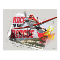 Dusty Race To The Rescue Postcard