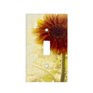 Dusty Retro Sunflower Single Toggle Light Switch Plate