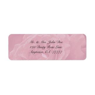 Dusty Rose Address Label