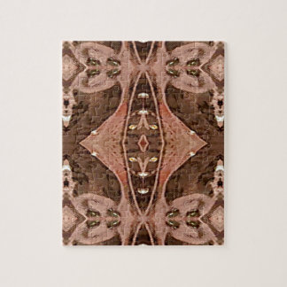 Dusty Rose And Brown Artistic Pattern. Jigsaw Puzzle