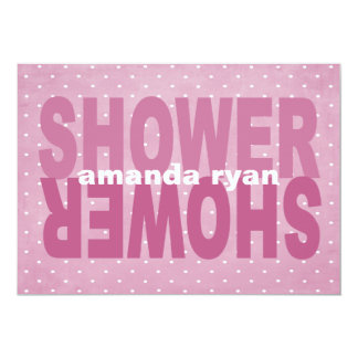 Dusty Rose Baby Shower Invite