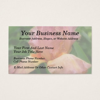 Dusty Rose Colored Bearded Iris Business Card