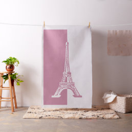 Dusty Rose Eiffel Tower | Cool Gifts Fabric