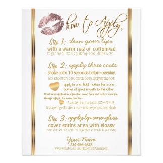 Dusty Rose Glitter Lip Instructions 2 Flyer