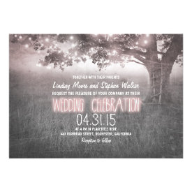 dusty rose grey lights tree wedding invites invites
