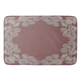 Dusty Rose Lace Bath Mat