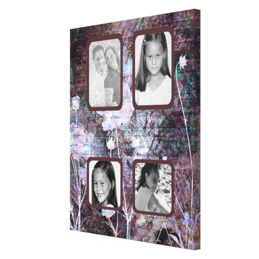 Dusty Rose Love Letters Photo Canvas Stretched Canvas Print